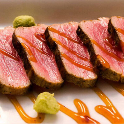 Seared Tuna Close Up